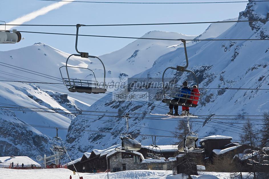Europe/France/73/Savoie/Val d'Isère: Le Front de Neige, les pistes et les remontées mécaniques