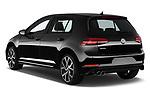 Car pictures of rear three quarter view of 2017 Volkswagen Golf GTD 5 Door Hatchback angular rear