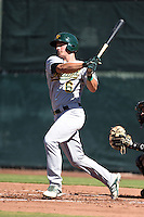 Oakland Athletics third baseman Matt Chapman (6) during an Instructional League game against the San Francisco Giants on October 13, 2014 at Giants Baseball Complex in Scottsdale, Arizona.  (Mike Janes/Four Seam Images)