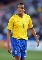 Gilberto Silva of Brazil. Brazil defeated USA 3-0 during the FIFA Confederations Cup at Loftus Versfeld Stadium in Tshwane/Pretoria, South Africa on June 18, 2009.