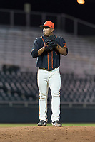 AZL Giants Black relief pitcher Jose Maita (39) gets ready to deliver a pitch during an Arizona League game against the AZL Rangers at Scottsdale Stadium on August 4, 2018 in Scottsdale, Arizona. The AZL Giants Black defeated the AZL Rangers by a score of 6-3 in the second game of a doubleheader. (Zachary Lucy/Four Seam Images)