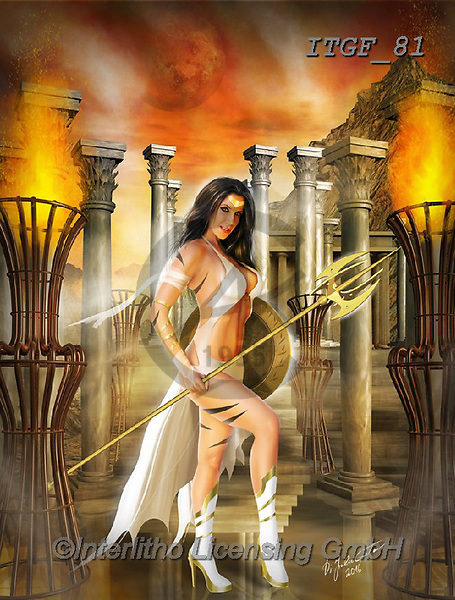 Gaetano, MODERN, MODERNO, paintings+++++The Altar Of The Goddess,ITGF81,#n#, EVERYDAY ,fantasy,puzzles,gothic,pin-up,pin-ups