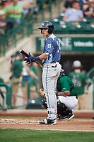 West Michigan Whitecaps designated hitter Dylan Rosa (24) at bat during a game against the Fort Wayne TinCaps on May 17, 2018 at Parkview Field in Fort Wayne, Indiana.  Fort Wayne defeated West Michigan 7-3.  (Mike Janes/Four Seam Images)