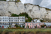 Victorian era hotels beneath the White Cliffs of Dover, Kent.