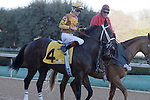 Jockey Cliff Berry aboard Son Of A Preacher during the post parade of the Smarty Jones Stakes Oaklawn Park in Hot Springs, Arkansas on January 20, 2014. (Credit Image: © Justin Manning/Eclipse/ZUMAPRESS.com)