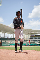 GCL Orioles second baseman Carlos Baez (1) walks back to the dugout during a game against the GCL Red Sox on August 9, 2018 at JetBlue Park in Fort Myers, Florida.  GCL Red Sox defeated GCL Orioles 10-4.  (Mike Janes/Four Seam Images)
