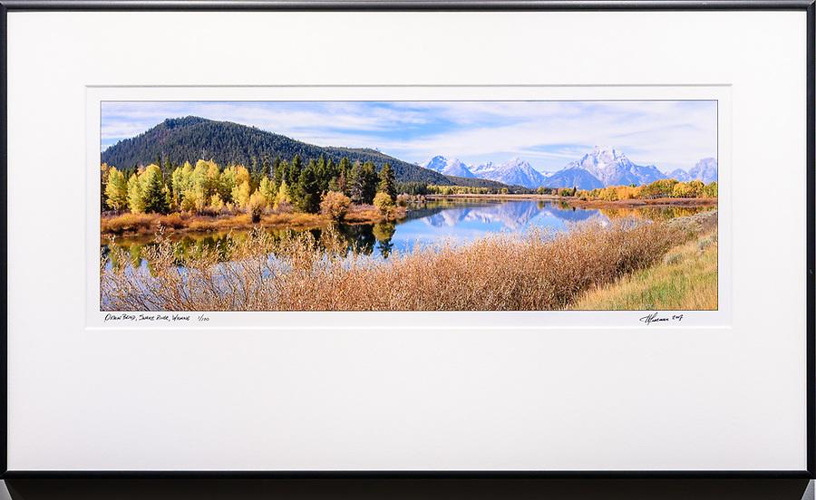 """Framed Size 14""""h x 24""""w, $400.<br /> Matte Black Nielsen 11 metal frame"""