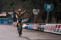 Wout van Aert (BEL/Jumbo-Visma) wins the muddy X2O Herentals Cross 2020, Belgium<br /> <br /> ©kramon
