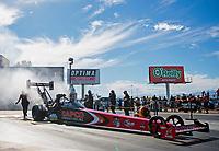 Nov 1, 2020; Las Vegas, Nevada, USA; NHRA top fuel driver Billy Torrence during the NHRA Finals at The Strip at Las Vegas Motor Speedway. Mandatory Credit: Mark J. Rebilas-USA TODAY Sports