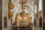 Austria, Tyrol, Stams in Tyrolean Upper Inn Valley: Cistercian Abbey Stams, collegiate church - interior | Oesterreich, Tirol, Stams im Tiroler Oberinntal: Stift Stams, Stiftkirche - innen