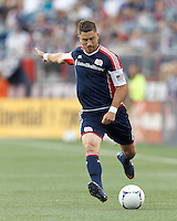 New England Revolution defender Chris Tierney (8) crosses the ball. In a Major League Soccer (MLS) match, the New England Revolution tied the Seattle Sounders FC, 2-2, at Gillette Stadium on June 30, 2012.