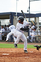 GCL Yankees East left fielder Canaan Smith (22) at bat during the first game of a doubleheader against the GCL Yankees West on July 19, 2017 at the Yankees Minor League Complex in Tampa, Florida.  GCL Yankees West defeated the GCL Yankees East 11-2.  (Mike Janes/Four Seam Images)