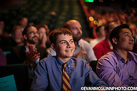 Seattle, WA., October 28, 2104:  the SVP Fast Pitch competition at McCaw Hall in Seattle. Photograph by Evan McGlinn.  ELI WEED, CEO, Dyslexi-type is a not-for-profit learn-to-type software program designed from the ground up for kids with Dyslexia.