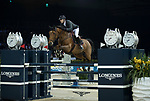 Patrice Delaveau of France riding Vestale de Mazure Hdc the Longines Speed Challenge during the Longines Masters of Hong Kong at AsiaWorld-Expo on 10 February 2018, in Hong Kong, Hong Kong. Photo by Ian Walton / Power Sport Images