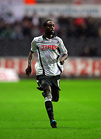 ATTENTION SPORTS PICTURE DESK<br /> Pictured: Nathan Dyer of Swansea City in action <br /> Re: Coca Cola Championship, Swansea City Football Club v Leicester City at the Liberty Stadium, Swansea, south Wales. Saturday 16 January 2010