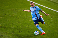 HARRISON, NJ - SEPTEMBER 23: HARRISON, NJ - Wednesday, September 23, 2020: Gudmundur Thorarinsson during a game between New York City FC and Toronto FC on September 23, 2020 at Red Bull Arena in Harrison, New Jersey during a game between Toronto FC and New York City FC at Red Bull Arena on September 23, 2020 in Harrison, New Jersey.
