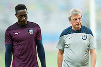 England manager Roy Hodgson and a dejected Danny Welbeck