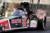 May 15, 2015; Commerce, GA, USA; NHRA top fuel driver J.R. Todd during qualifying for the Southern Nationals at Atlanta Dragway. Mandatory Credit: Mark J. Rebilas-USA TODAY Sports