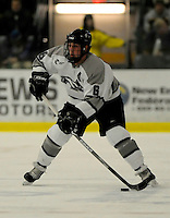 1 December 2007: Providence College Friars' defenseman Cody Wild, a Junior from North Providence, RI, in action against the University of Vermont Catamounts at Gutterson Fieldhouse in Burlington, Vermont. The Friars defeated the Catamounts 4-0 in front of a capacity crowd of 4003, for the 64th consecutive sell-out at Gutterson...Mandatory Photo Credit: Ed Wolfstein Photo