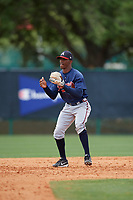 Atlanta Braves Kevin Josephina (14) during a minor league Spring Training game against the Detroit Tigers on March 25, 2017 at ESPN Wide World of Sports Complex in Orlando, Florida.  (Mike Janes/Four Seam Images)