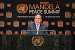 Opening Plenary Meeting of the Nelson Mandela Peace Summit<br /> <br /> Libya FM