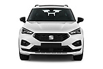 Car photography straight front view of a 2020 Seat Tarraco FR 5 Door SUV Front View