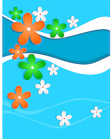 Creative artistic vector background with flowers of Indian national flag colors,banner.<br /> <br /> Suitable for Indian Independence day, Republic day or other patriotic themes.<br /> <br /> This image is also available as scalable EPS and PNG format.