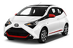 2019 Toyota Aygo x-style 5 Door Hatchback angular front stock photos of front three quarter view