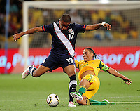 Juan Agudelo during the  Soccer match between South Africa and USA played at the Greenpoint in Cape Town South Africa on 17 November 2010.