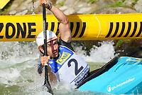 5th September 2021; Parc Olimpic del Segre, La Seu D'Urgell ICF Slalom World Cup, Men's  Extreme Slalom Semi-Finals;  Munsch (SUI)