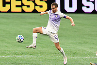 ATLANTA, GA - AUGUST 29: Oriol Rosell #20 of Orlando City controls the ball during a game between Orlando City SC and Atlanta United FC at Marecedes-Benz Stadium on August 29, 2020 in Atlanta, Georgia.
