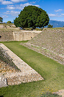 Monte Alban, Oaxaca, Mexico.  Zapotec Capital Ruins, Ball Court, Constructed about 100 B.C.
