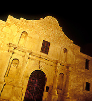 Alamo at night. San Antonio, Texas.