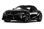 Stock pictures of low aggressive front three quarter view of a 2019 Toyota GR-Supra Sport 2 Door Coupe