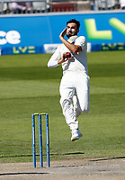 30th May 2021; Emirates Old Trafford, Manchester, Lancashire, England; County Championship Cricket, Lancashire versus Yorkshire, Day 4; Saqib Mahmood of Lancashire