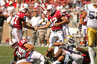 1 September 2007: Jay Ottovegio and Derek Belch during Stanford's 45-17 loss to the UCLA Bruins at Stanford Stadium in Stanford, CA.