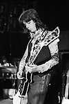"""Jimmy McCulloch  Wings Tour 1975.Sound check. The photographs from this set were taken in 1975. I was on tour with them for a children's """"Fact Book"""". This book was called, The Facts about a Pop Group Featuring Wings. Introduced by Paul McCartney, published by G.Whizzard. They had recently recorded albums, Wildlife, Red Rose Speedway, Band on the Run and Venus and Mars. I believe it was the English leg of Wings Over the World tour. But as I recall they were promoting,  Band on the Run and Venus and Mars in particular."""