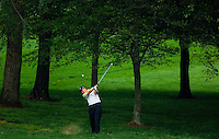 Ernie Els hits from the woods during the 2007 Wachovia Championships at Quail Hollow Country Club in Charlotte, NC.