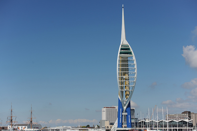 The Emirates Spinnaker Tower, JULY 23, 2016 - Sailing: General view of the Emirates Spinnaker Tower during day one of the Louis Vuitton America's Cup World Series racing, Portsmouth, United Kingdom. (Photo by Rob Munro/AFLO)