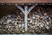 BNPS.co.uk (01202 558833)<br /> Pic: Hamptons/BNPS<br /> <br /> Pictured: The large log store.<br /> <br /> An incredible Arts and Crafts country house with its own vineyard is on the market for offers over £7m.<br /> <br /> The Grade II listed St Joseph's Hall is a striking 111-year-old property that was home to the Bishop of Arundel for 40 years.<br /> <br /> It has a wealth of period features, an indoor swimming pool and seven acres of vineyard with mostly Chardonnay grapes, which the owners sell to a local winery.<br /> <br /> The house in Storrington, West Sussex, has 17 acres of land with beautiful views over the South Downs.