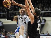 140715 International Basketball - NZ Tall Blacks v South Korea