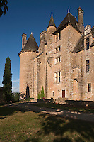 Europe/Europe/France/Midi-Pyrénées/46/Lot/env se Saint-Céré/Saint-Jean-Lespinasse: Le château de Montal de style Renaissance, la façade Nord