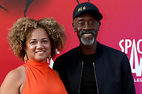 LOS ANGELES - JUL 12:  Bridgid Coulter, Don Cheadle at the Space Jam:  A New Legacy Premiere at the Microsoft Theater on July 12, 2021 in Los Angeles, CA