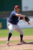Pitcher Michael Zagurski #41 of the Lehigh Valley Iron Pigs during a game versus the Pawtucket Red Sox on June 19, 2011 at McCoy Stadium in Pawtucket, Rhode Island. (Ken Babbitt/Four Seam Images)