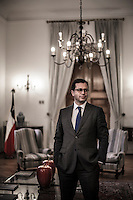 Chile's Interior Minister Rodrigo Hinzpeter pose at his office in La Moneda government palace in Santiago, Chile, October, 2012...Photo by Roberto Candia