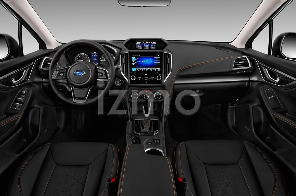 Stock photo of straight dashboard view of a 2018 Subaru Crosstrek Limited CVT 5 Door SUV