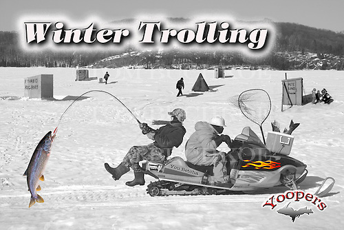 Anybody can go ice fishing, but for a real thrill AND to catch your limit every time, nothing beats trolling from a snowmobile. <br /> Yoopers can often be seen dipping a line from a sled in pursuit of trophy trout on a variety of inland lakes in the UP.