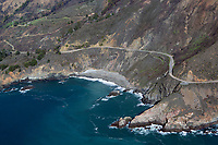 aerial photograph of a beach, Big Sur, Monterey County, California
