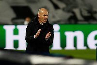 April 27th 2021; Alfredo Di Stefano Stadium, Madrid, Spain; UEFA Champions League. Zinedine Zidane Madrid  during the Champions League match, semifinals between Real Madrid and Chelsea FC played at Alfredo Di Stefano Stadium