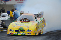 Oct. 2, 2011; Mohnton, PA, USA: NHRA funny car driver Johnny Gray during the Auto Plus Nationals at Maple Grove Raceway. Mandatory Credit: Mark J. Rebilas-